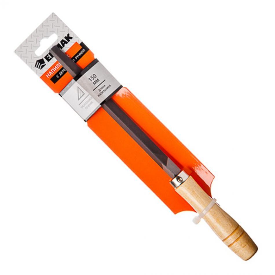 """Напильник с деревянной ручкой трехгранный 150 мм """"ЕРМАК"""" (арт. 645-007)"""