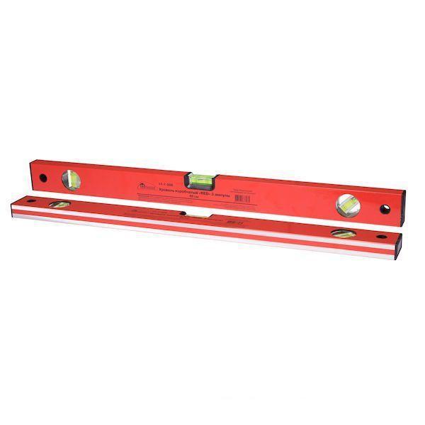 "Уровень коробчатый ""Red"", 3 ампулы, 60 см ""Hobbi"" (арт. 171006)"