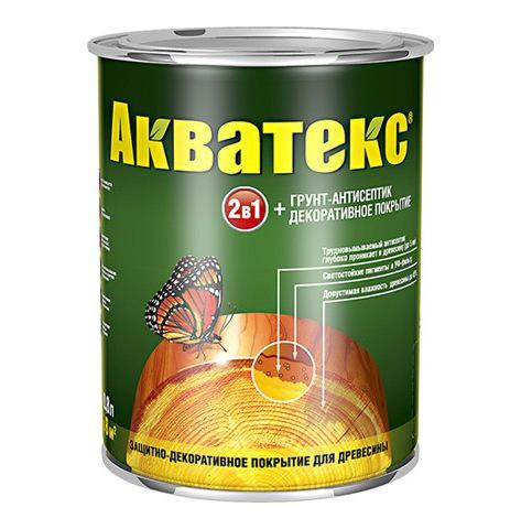Защитно-декоративное покрытие для древесины Акватекс 2в1 орех 0,8 кг
