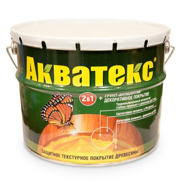 Защитно-декоративное покрытие для древесины Акватекс 2в1 орех 3 кг