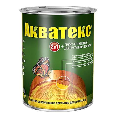 Защитно-декоративное покрытие для древесины Акватекс 2в1 орегон 0,8 кг