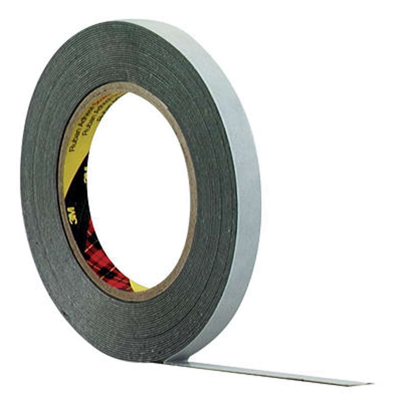 Лента клейкая двухсторонняя черная 12 мм*5 м (арт. 496013)