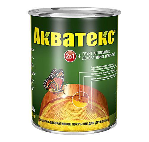 Защитно-декоративное покрытие для древесины Акватекс 2в1 белый 0,8 кг