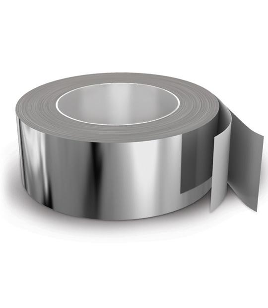 Лента клейкая алюминиевая 50 мк 50 мм*40 м Россия (арт. 497740)