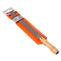 """Напильник с деревянной ручкой плоский 200 мм """"ЕРМАК"""" (арт. 645-017)"""
