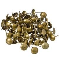 Гвозди декоративные усиленные, бронза, 100 гр / 167 шт (арт. 623061)