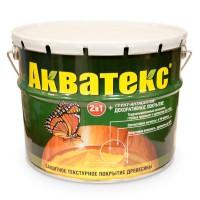 Защитно-декоративное покрытие для древесины Акватекс 2в1 калужница 3 кг