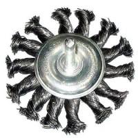 """Щетка-крацовка для дрели круглая, со шпилькой, крученая проволока, d-100 """"Hobbi"""" (арт. 453210)"""
