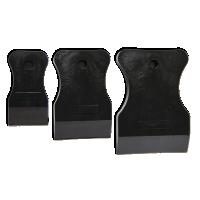 Набор черных резиновых шпателей 3 шт (40,60,80 мм) Россия (арт. 122103)