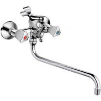 Код 10885 F2211 Смеситель для ванны м/кер.шаровый переключатель +7130S