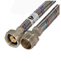 Код 10572 FRESSO PROF Подводка гибкая для воды Г1/2-Ш1/2 1м (арт. 573226)