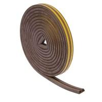 Уплотнитель 10м D-профиль (коричневый)