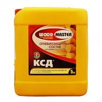 Огнебиозацитный состав «WOODMASTER»  КСД для древесины и тканей (II группа огнезащиты) бесцветный 5 л