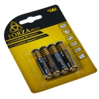 "Батарейки,  тип ААА (мизинчиковые), 4 шт,  1,5 В, щелочные Alkaline ""FORZA"" (арт. 917003)"