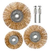 "Набор щеток металл.со шпильками 3 предмета (50,63,75 мм - плоские) ""ЕРМАК"" (арт. 656032)"