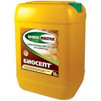 Антисептический состав «WOODMASTER» Биосепт для древесины бесцветный 10 л