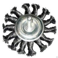 Код 10099 Щетка-крацовка для дрели дисковая крученая проволока 75 мм (Hobbi) (арт. 453207)