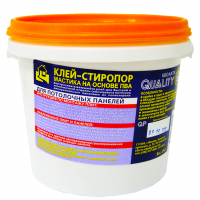 """Клей-стиропор, мастика  на основе ПВА, для потолочных панелей, 1,5 кг """"QUALITY"""""""