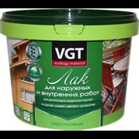 Лак акриловый для наружных и внутренних работ бесцветный глянцевый «VGT» 0,9 кг