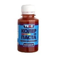 """Колер паста универсальная, красно-коричневая, 0,1 кг """"ТЕКС"""""""