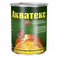 Защитно-декоративное покрытие для древесины Акватекс 2в1 груша 0,8 кг