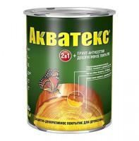 Защитно-декоративное покрытие для древесины Акватекс 2в1 калужница 0,8 кг