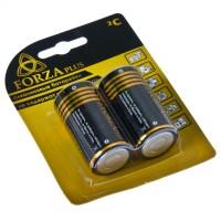 "Батарейки, тип С, 2 шт, 1,5 В, щелочные Alkaline ""FORZA"" (арт. 917006)"