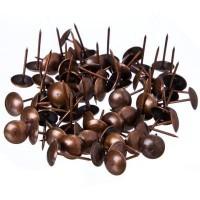 Гвозди декоративные усиленные, медь, 100 гр / 167 шт (арт. 623094)