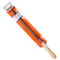 """Напильник с деревянной ручкой трехгранный 250 мм """"ЕРМАК"""" (арт. 645-009)"""