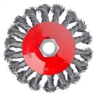 """Щетка металлическая для УШМ, 100 мм / М14, крученая,""""тарелка"""" """"ЕРМАК"""" (арт. 656074)"""