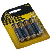 """Батарейки, тип АА (пальчиковые), 4 шт, 1,5 В, щелочные Alkaline """"FORZA"""" (арт. 917005)"""