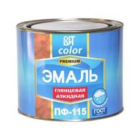 """Эмаль ПФ-115, синяя, 0,8 кг, ГОСТ """"ВИТ color"""""""