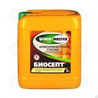 Антисептический состав «WOODMASTER» Биосепт для древесины бесцветный 5 л