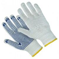 Перчатки вязаные х/б с ПВХ напылением, 5 нитей  (арт. 446005)