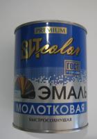 """Эмаль с молотковым эффектом """"Черная"""" 0.8кг Царицыно"""
