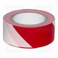 Лента сигнальная бело-красная 75 мм*200 м (арт. 497205)