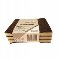 Набор губок для шлифования, мягкие, 3 шт, 100*70*25 мм,силикон карбид (арт. 321201)