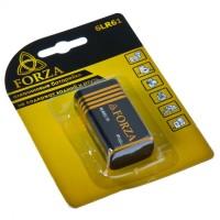 "Батарейка, тип 6LR61 (крона), 1 шт, 9 В, щелочная Alkaline ""FORZA"" (арт. 917008)"