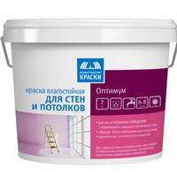 """Краска интерьерная водно-дисперсионная влагостойкая для стен и потолков «Оптимум» """"ТЕКС"""" 7 кг"""