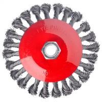 """Щетка металлическая для УШМ, 125 мм / М14, крученая, """"тарелка"""" """"ЕРМАК"""" (арт. 656075)"""