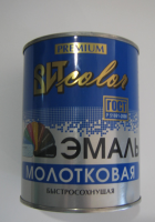 """Эмаль с молотковым эффектом """"Т/Серая"""" 0.8кг Царицыно"""