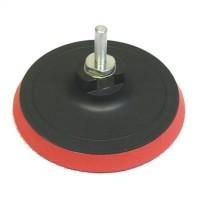 Шлифовальный круг резиновый с липучкой + переходник 115 мм (арт. 645107)